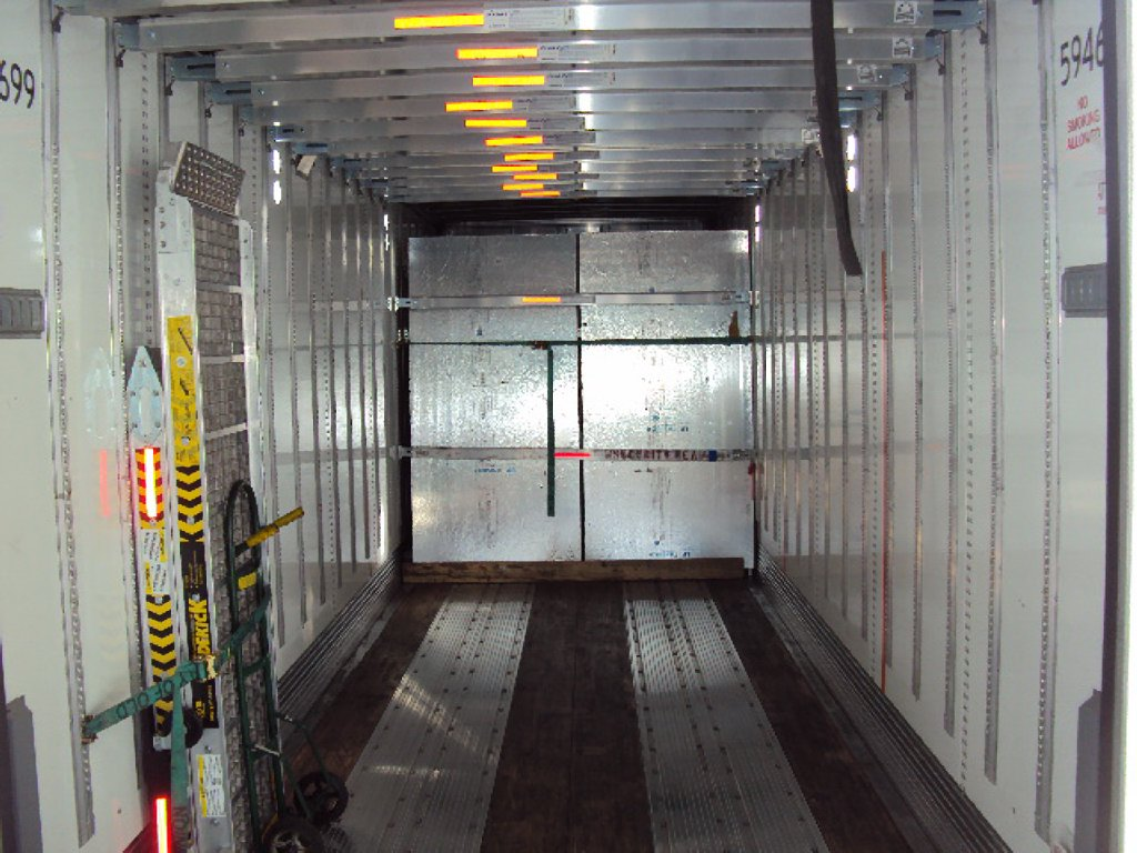 Inside Moving Trailer